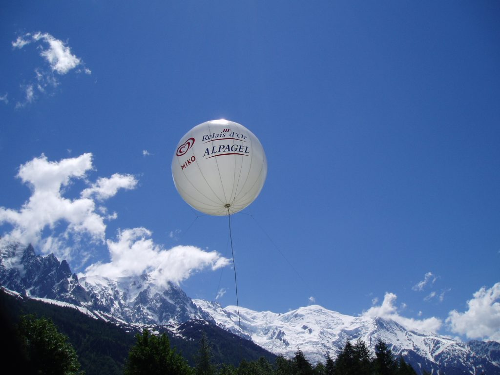 Ballon publicitaire outdoor