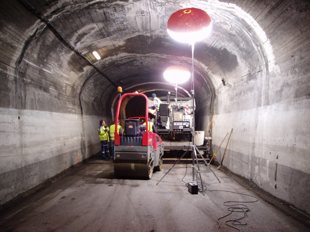 Chantier dans tunnel